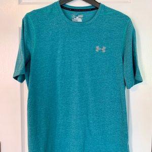Men's HeatGear Under Armor T-Shirt, Teal/Blue
